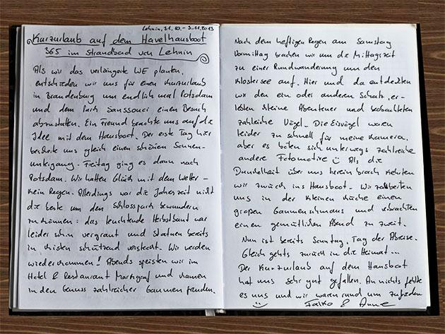 Das Hausboot-Tagebuch